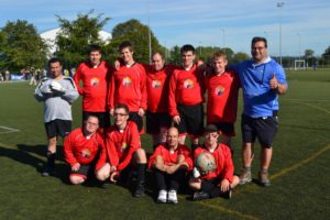 The football team at their disability tournament